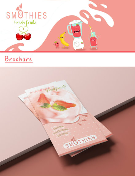 trifold smoothies advertising brochure