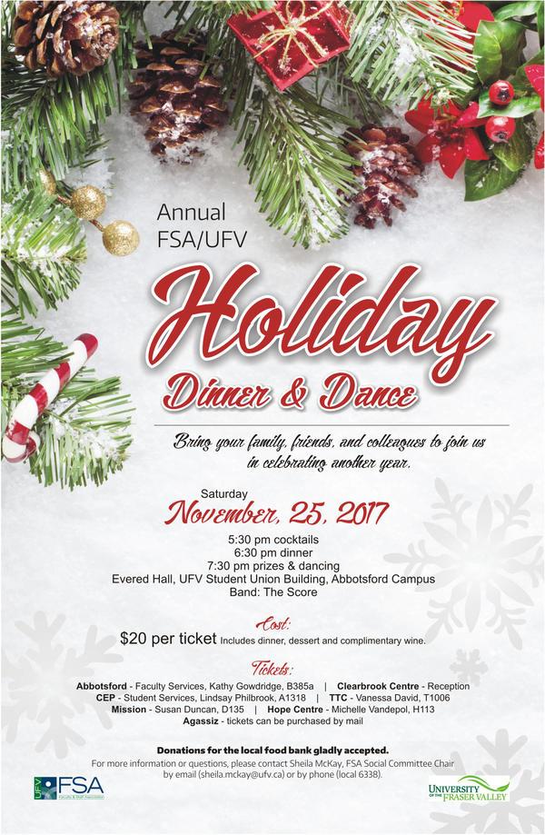 ufv fsa holiday dinner and dance invitation