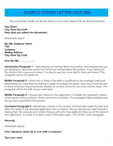 university cover letter template