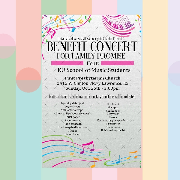 university of kansas benefit concert flyer