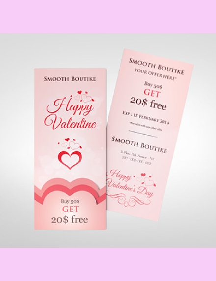 Valentine Promotional Rack Card Sample