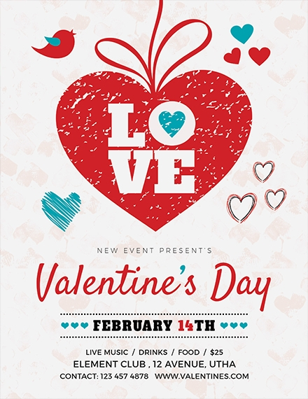 valentines day love flyer