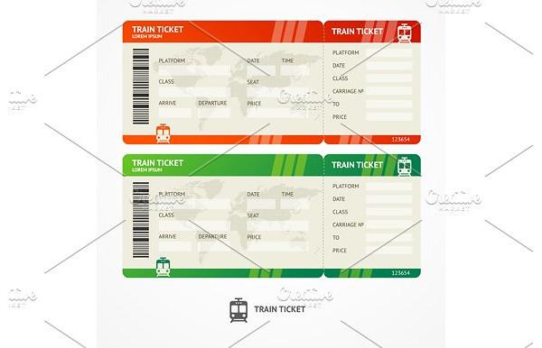 vector train ticket example1
