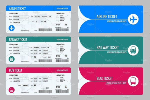 vector travel tickets for train example1