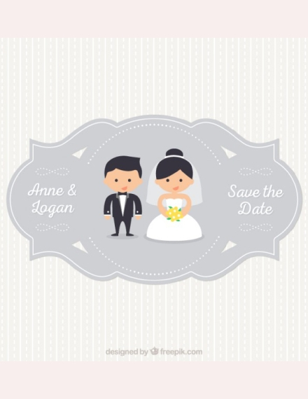vector wedding label example