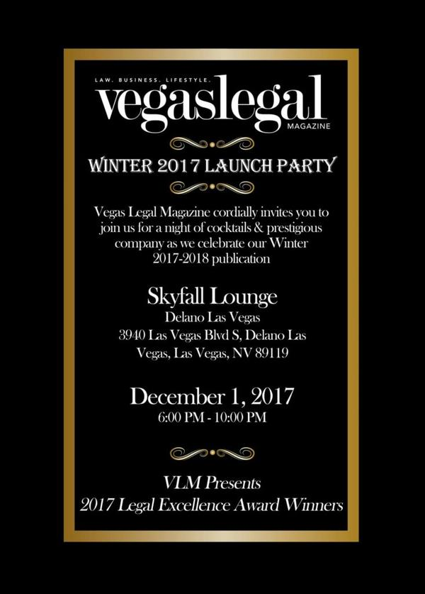 vegas legal magazine winter launch party invitation