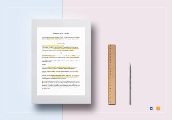 3 Videography Contract Examples Sample Pdf Word Pages