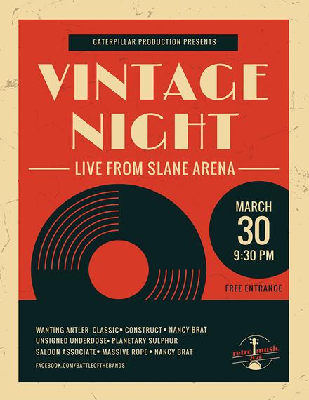 vintage music poster flyer