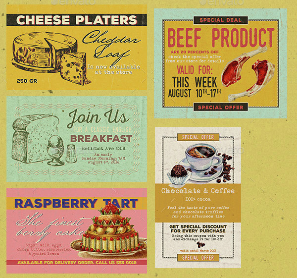 vintage restaurant discount coupon example