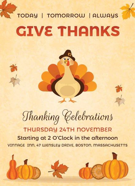 Vintage Thanksgiving Event Design