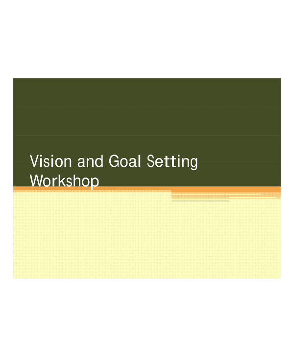 vision and business goal setting example1