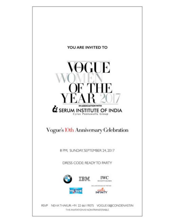 vogue anniversary party invitation