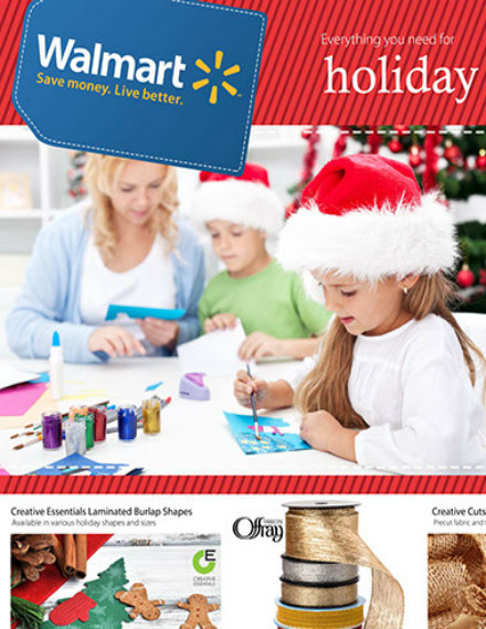 walmart holiday crafting flyer mock up