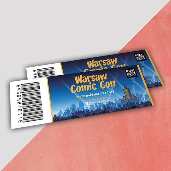 warsaw comic convention event ticket