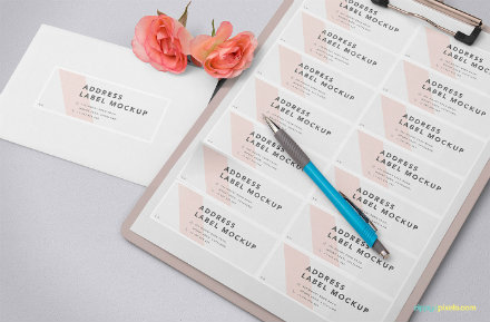 wedding address label