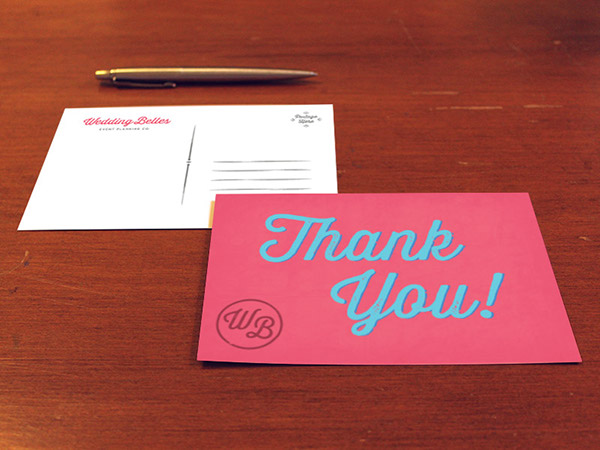 wedding belles thank you card