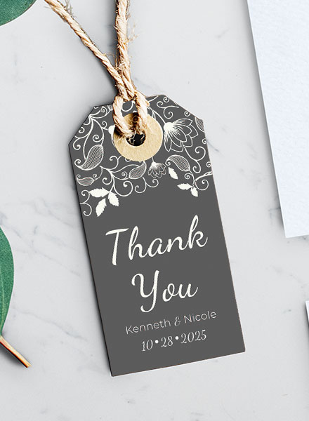 wedding favor label design