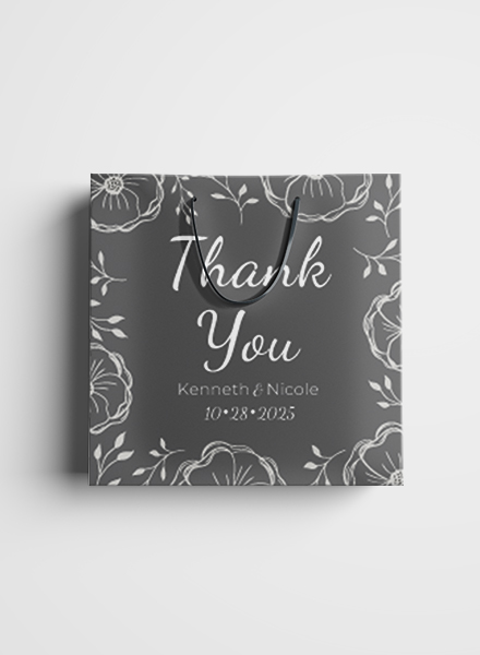 wedding gift bag label example