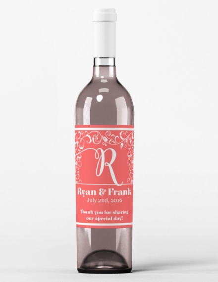 wedding wine bottle label example