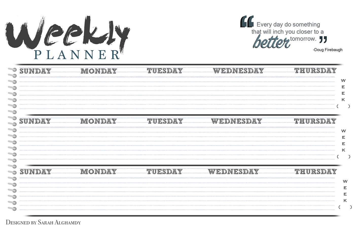 Weekly Planner Example