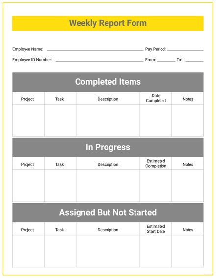 Weekly Report Template | 14 Weekly Report Examples Templates In Word Pdf Pages Examples