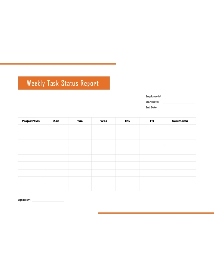 weekly task report template2