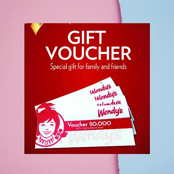 Wendy's Gift Voucher