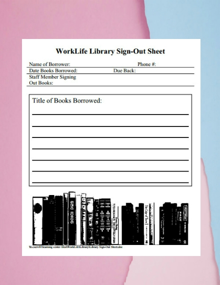 worklife library sign out sheet