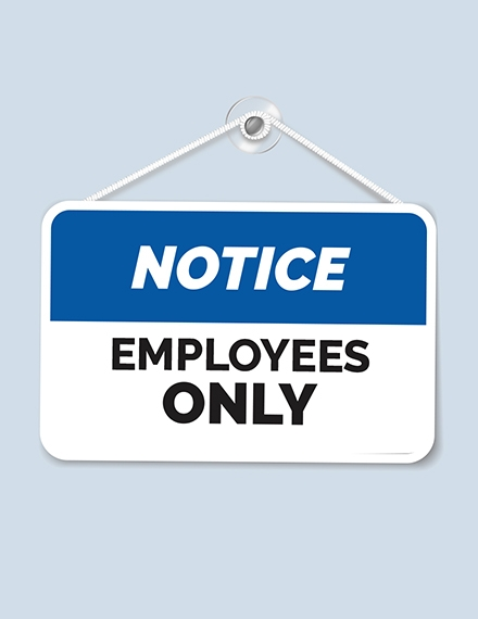 Workplace Sign Template