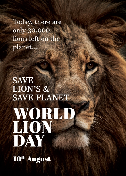 world lion day design