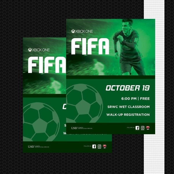 xbox fifa tournament sports flyer