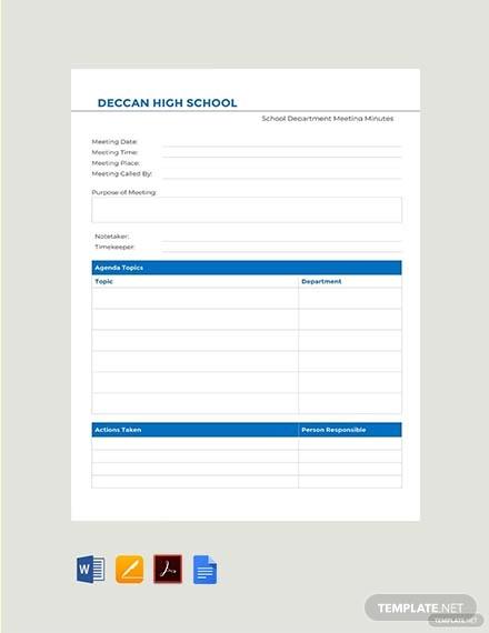 free school department meeting