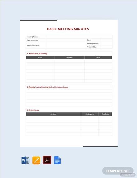 free simple basic meeting