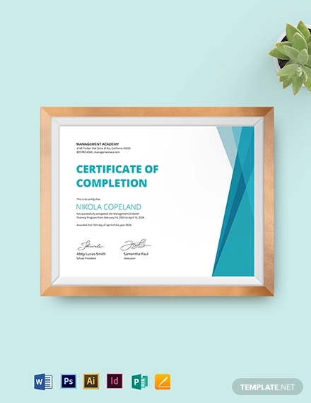 management training certificate