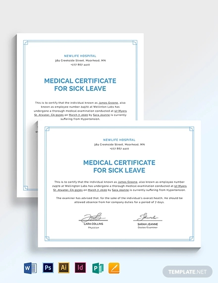 medical certificate for sick leave1