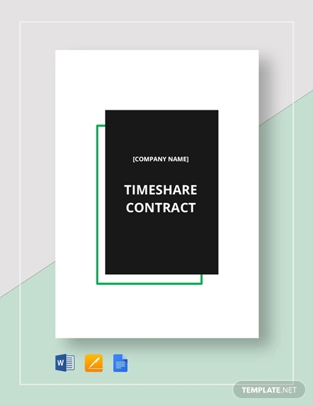 7 Timeshare Contract Examples Pdf Word Examples