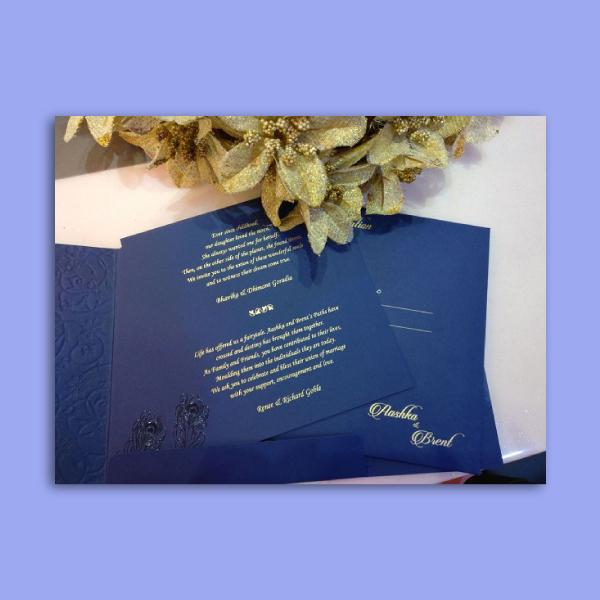 aashka and brent wedding card