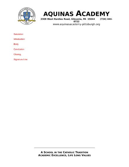 academy letterhead
