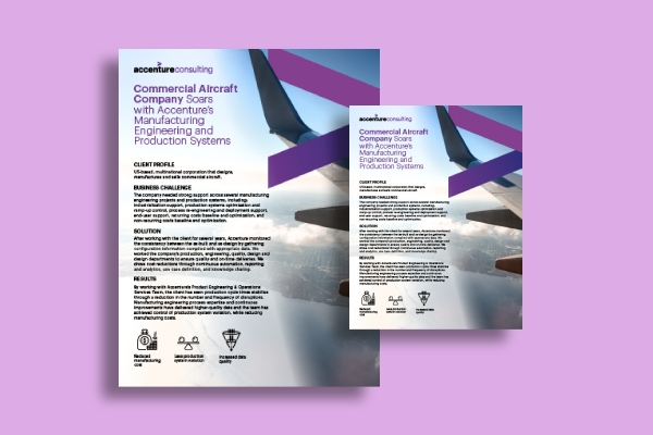 accenture business corporate flyer
