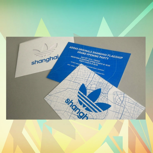 adidas shanghai flagship grand opening invitation card