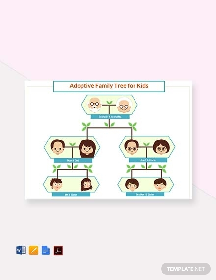 adoptive family tree template for kids