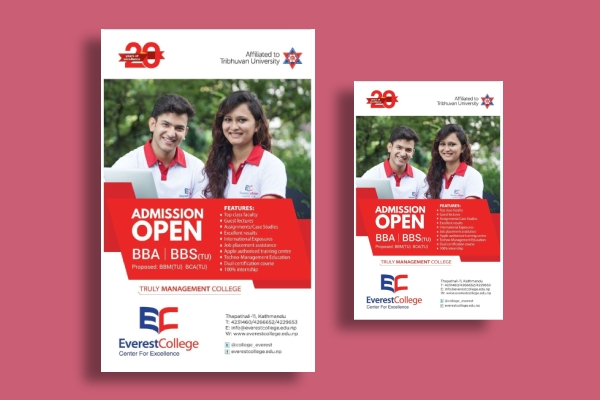 advanced education admission open flyer
