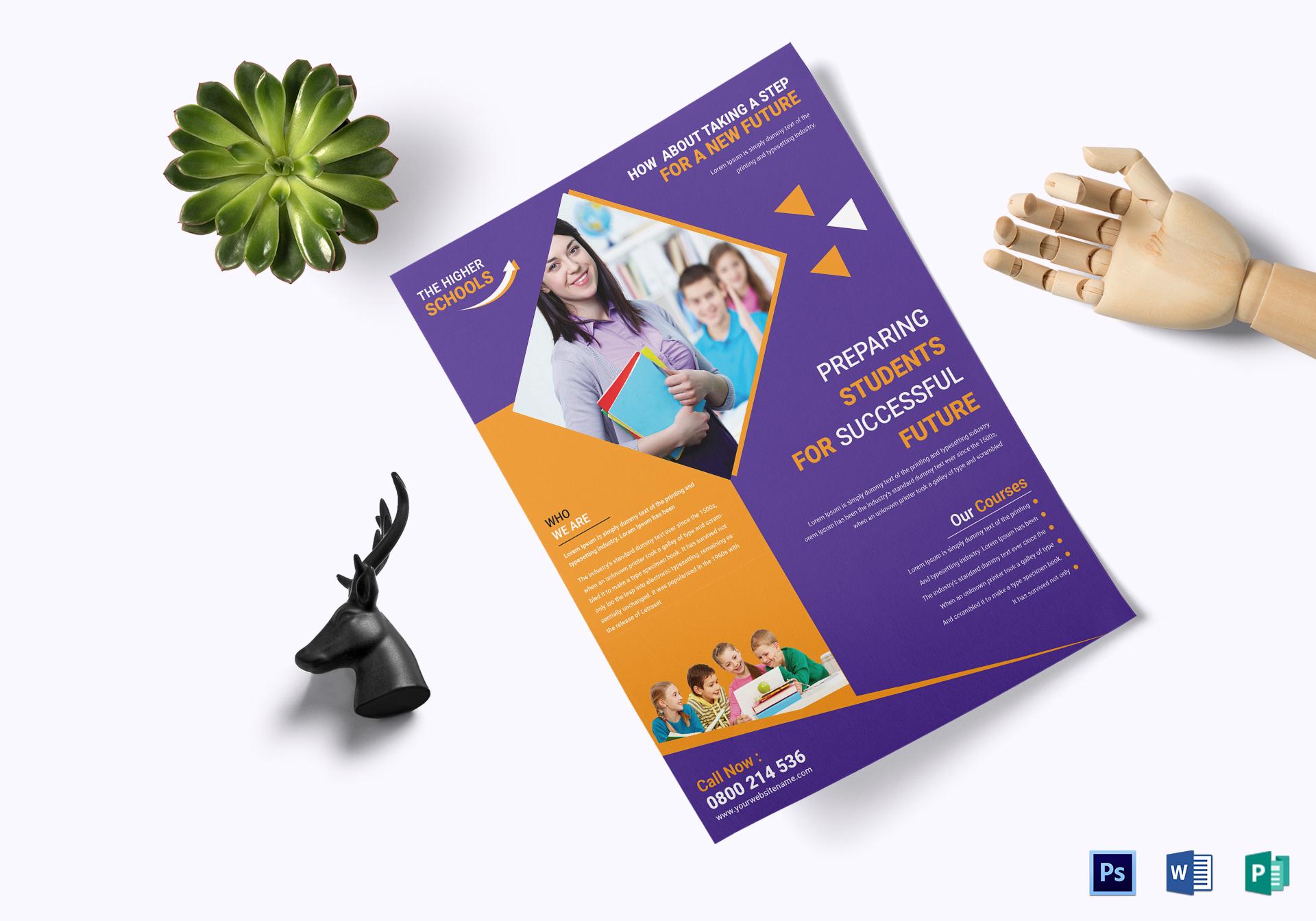 advanced education flyer template