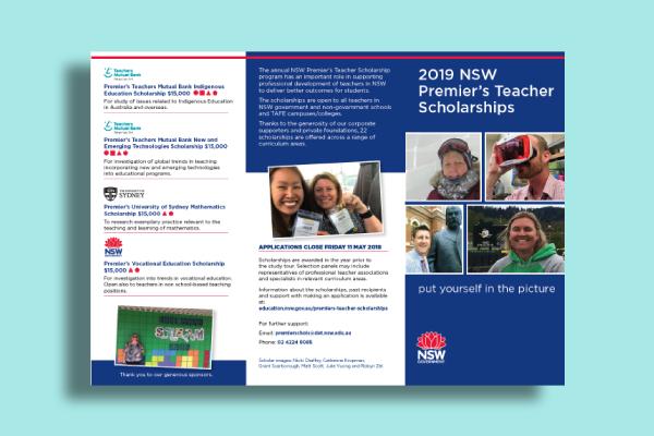 advanced education scholarship flyer