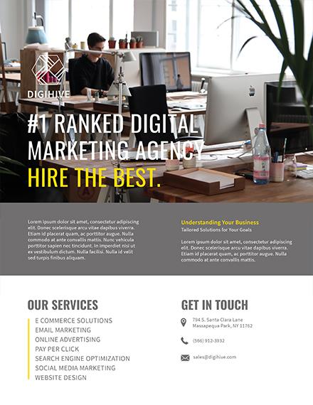 agency digital marketing flyer