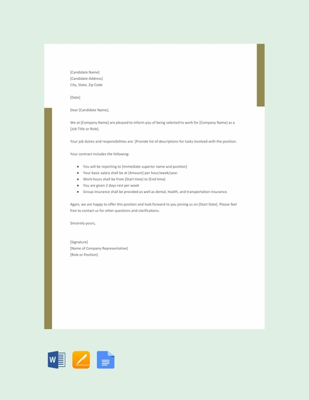 agency offer letter template