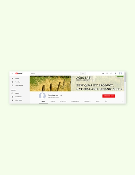 agriculture youtube channel template
