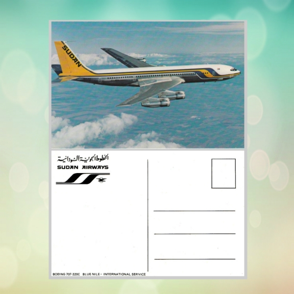 airline business postcard