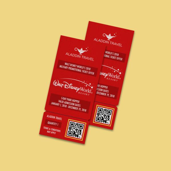 aladdin disney world admission ticket