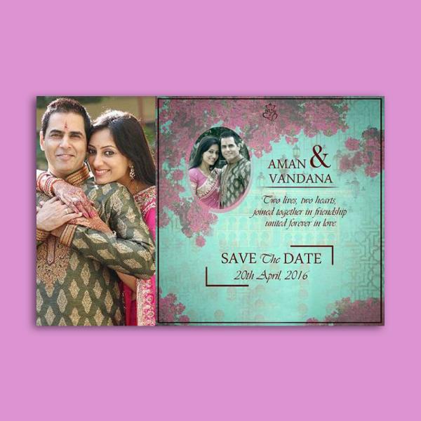 aman and vandana wedding card